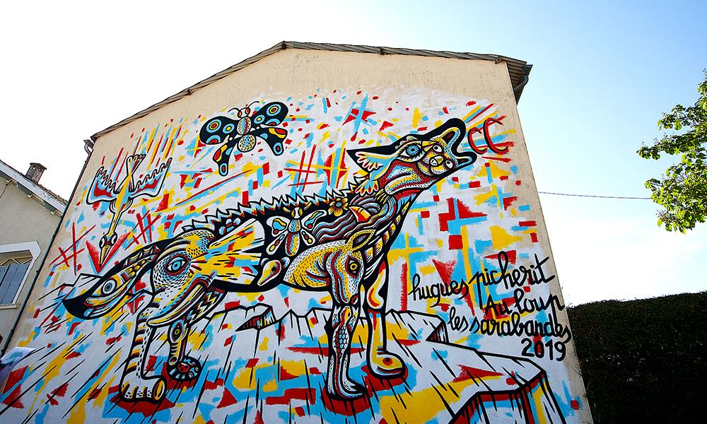 Fresque Le Loup - Hugues Picherit